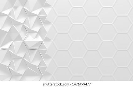 White Geometrical Morphing Background (3d Illustration)