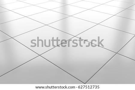 White Glossy Ceramic Tile Floor Pattern Stockillustration 627512735