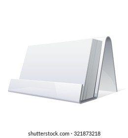 White Glossy holder for business cards.