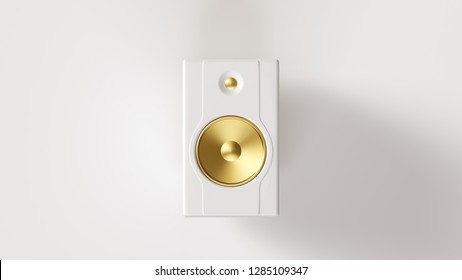 White and Gold Speaker 3d illustration