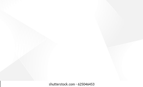White gradient abstract polygon pattern on gray background.