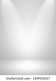 White and gray background. Abstract silver background for web design templates, valentine, christmas, product studio room and business report with smooth gradient color.