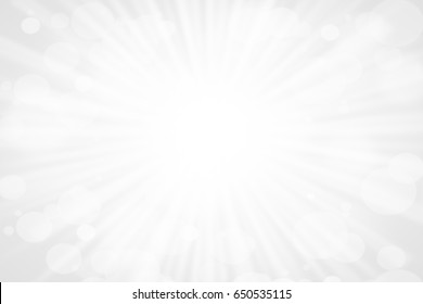 White gray background light bokeh shine with sun flair vintage at summer