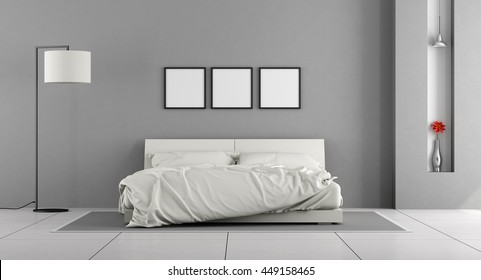 Bedroom Gray Walls High Res Stock Images Shutterstock