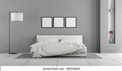 Bedroom Gray Walls High Res Stock Images Shutterstock