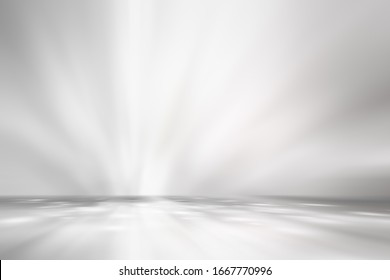 white and gray studio room background, grey floor backdrop with spotlight.