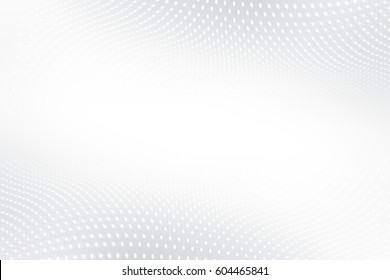 White gray waving background. Blurred pattern dots. Abstract creative graphic.
