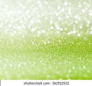 white green glitter bokeh texture christmas abstract background