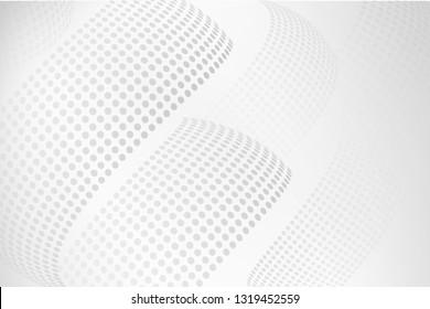 White grey Halftone Background , Technology Background,Dots digital