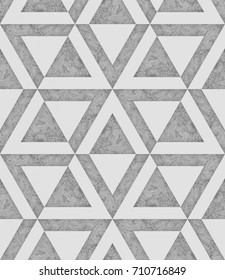White and grey seamless pattern with the texture of the concrete, angular graphic, 3d illustration background image