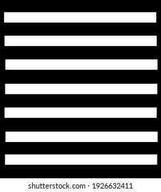 White horizontal striped pattern lines isolated on white background