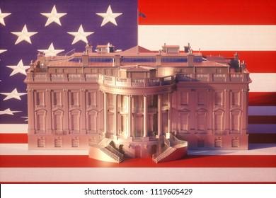 White House 3d Illustration