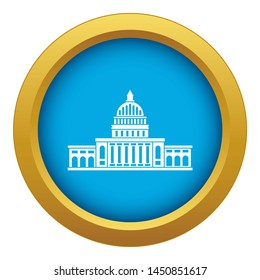 White house icon blue isolated on white background for any design