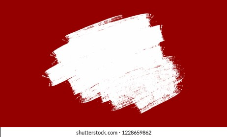 White ink grunge banner on red background, can use for your design.