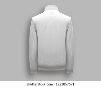 White Jacket back view. 3D rendering