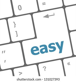white keyboard with easy button, raster
