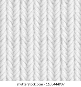 White knitted seamless texture. 3D illustration