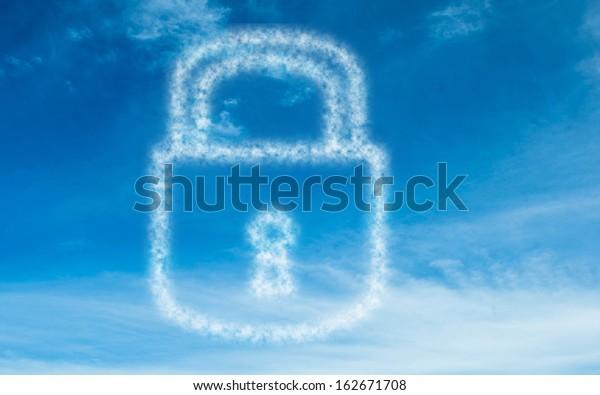 White lock in sky