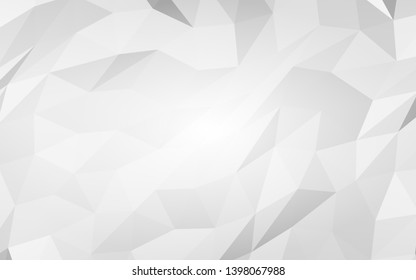 White low poly abstract background. Crumpled paper. 3D illustration