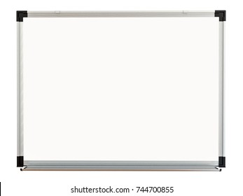 White magnetic board on white background. Isolated 3d rendering