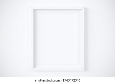 """White matted frame 8x10"""" mockup. 3d rendering"""