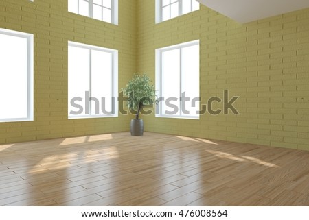 White modern interior design d illustration stock illustration