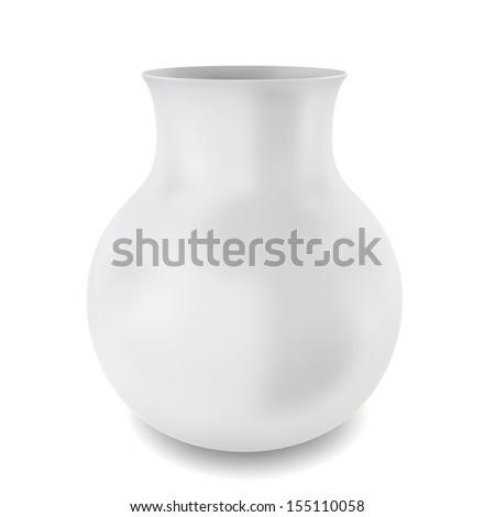 White Modern Vase 3 D Illustration On Stock Illustration 155110058