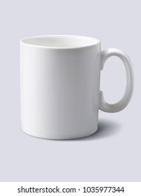 White mug realistic. 3d illustration