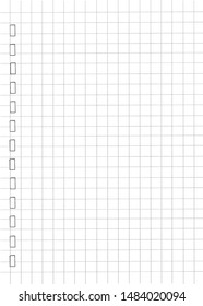 White notebook paper with grid lines. Education background.