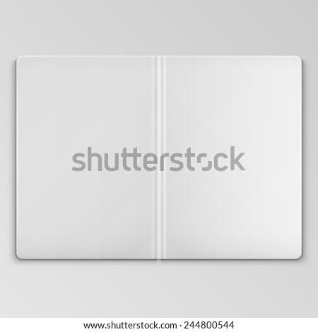 white open book cover template stock illustration 244800544