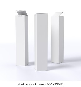white open and closed box product. 3D rendering