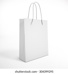white package on a white background. mock up