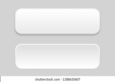 White pair of buttons on gray background. Web icons. Illustration. Raster version