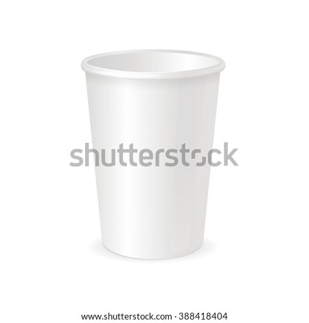white paper cup template coffee tea stock illustration 388418404