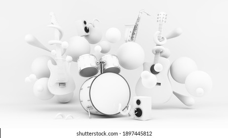 White paper instruments 3d rendering