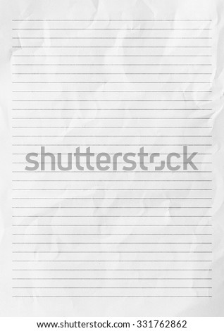 white paper lines notepad blank sheet stock illustration 331762862