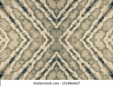 White Paper Material. Sepia Beige Aquarelle Texture. Grey Dyed Dirty Art. Old Rough Art Style. Pale Brown Brushed Texture. Gray Black Geometric Chevron. White Grey Black Ethnic Dyed Art.