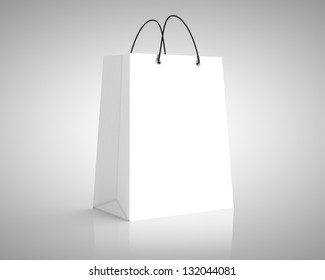 white paper package. close up