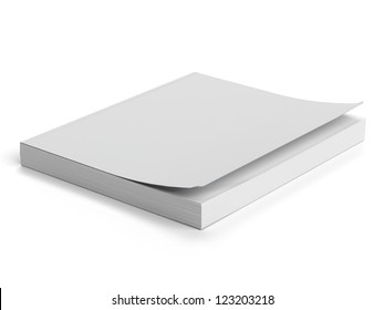 White paperback isolated on a white background
