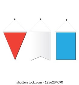 White pennant. Advertising outdoor banners. Advertising banners