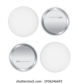 White pin button . Pin button realistic badge
