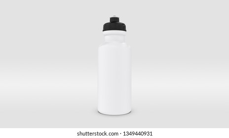 White Plastic Squeeze Bottle for Souvenir and Product Mockup Isolated on Studio or Infinite Background (3D rendering)