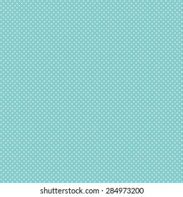 White Polka Dot Pattern on Turquoise Background