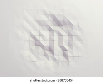White polygonal abstract backround design / Low-poly abstract form suitable for infographics, book cover , mobile application or web banner