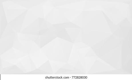 White Polygonal Background Backdrop