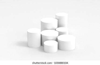 White product cylinder display background. Perfect for watches, jewellery and small products.