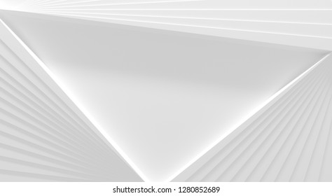 White Radiating Background With Space For Text (3D Illustration)