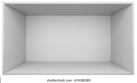 White room. Front view. 3D Render