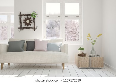 Phenomenal White Room Sofa Living Room Interior Stockillustratie Gmtry Best Dining Table And Chair Ideas Images Gmtryco