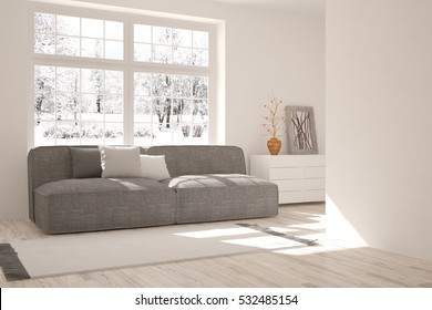 Super Empty White Wall Mockup Sofa Pillows Stockillustratie Gmtry Best Dining Table And Chair Ideas Images Gmtryco